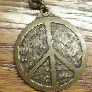 Bronze Woodstock Love necklace.
